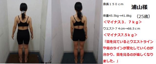 浦山様 マイナス3.7kg