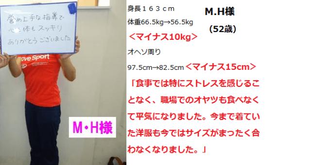 M.H様 マイナス10kg